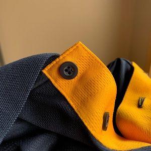 Adidas polo collared golf shirt Michigan colors